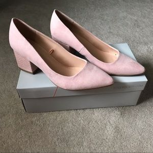 New in box Sole Society block heel shoes
